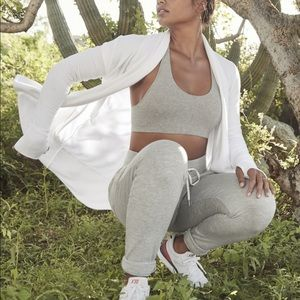 Athleta Pranayama Long Wrap Cardigan White S